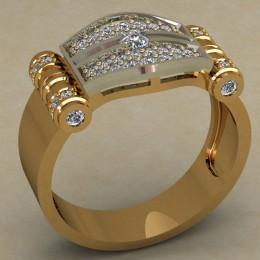 Мужское кольцо 0491