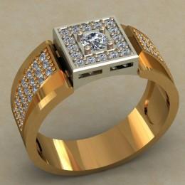 Мужское кольцо 0492