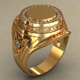 Мужское кольцо 0494