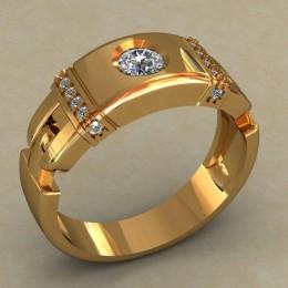 Мужское кольцо 0495