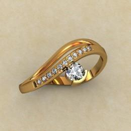 Кольцо женское 0340