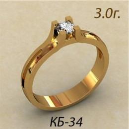 Кольцо женское кб-34