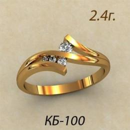 Женское кольцо классическое кб-100