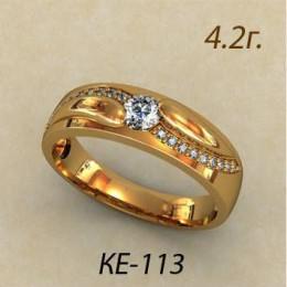 Женское кольцо классическое ке-113