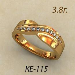 Женское кольцо классическое ке-115