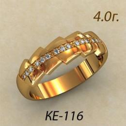 Женское кольцо классическое ке-116