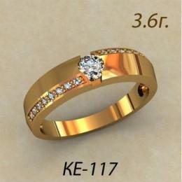 Женское кольцо классическое ке-117