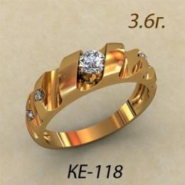 Женское кольцо классическое ке-118