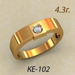 Женское кольцо классическое ке-102
