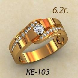 Женское кольцо классическое ке-103