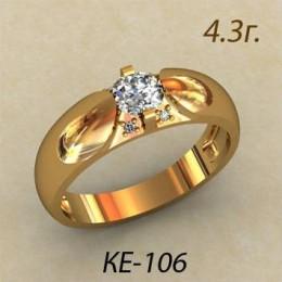 Женское кольцо классическое ке-106