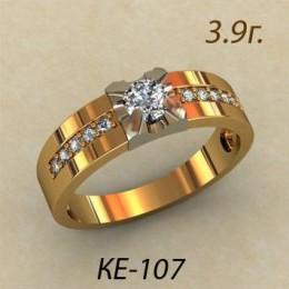 Женское кольцо классическое ке-107