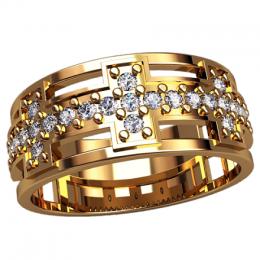 Женское кольцо классическое 2528