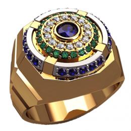 Мужское кольцо 3132