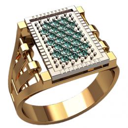 Мужское кольцо 3160